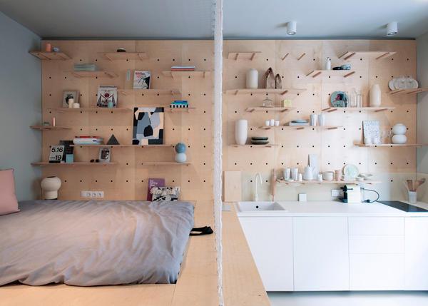 Идея обустройства очень маленькой квартиры