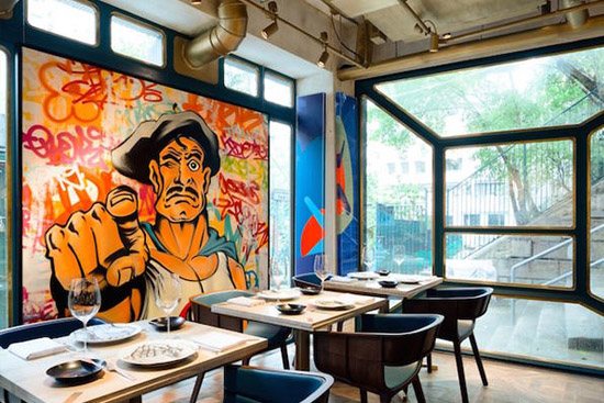 Дизайн ресторана в стиле поп-арт в Гонконге