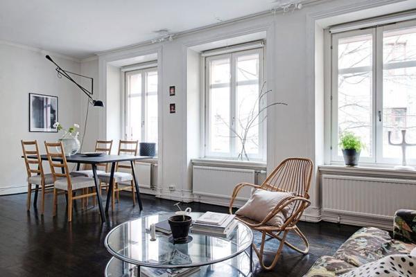 Контрастный интерьер в скандинавском стиле