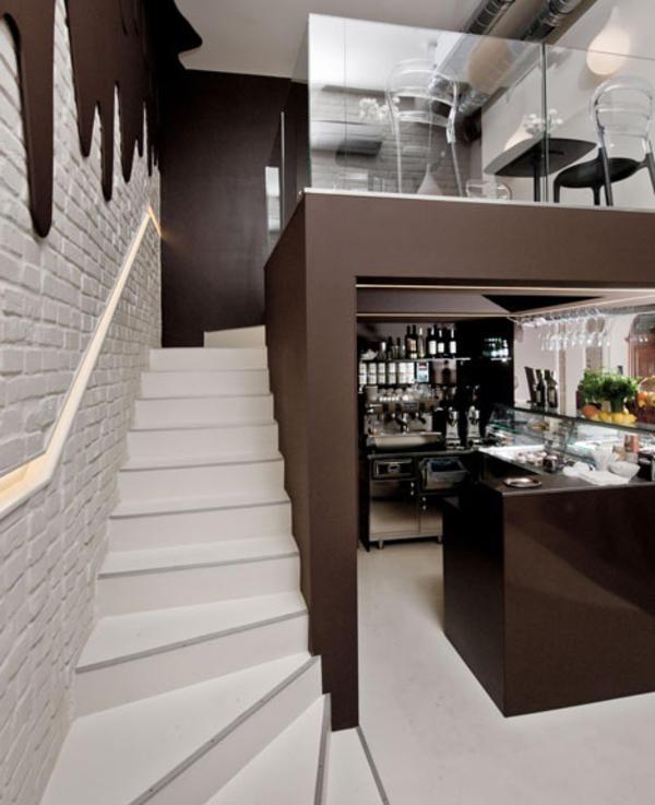 Шоколадный интерьер кафе в Ополе