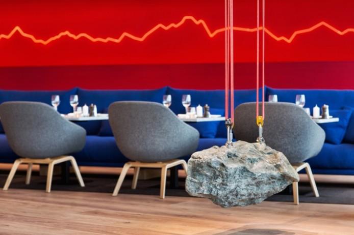 Интерьер швейцарского ресторана